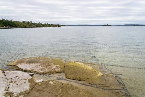 Photograph - Tiled Bedrock - Lake Manitou Cool Vista by Georgia Mizuleva