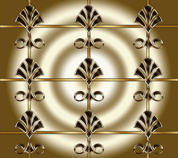 Digital Art - Tiled Deco 1 by Chuck Staley