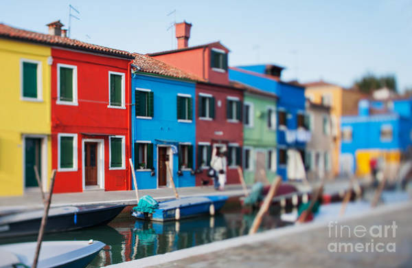 Wall Art - Photograph - Tilt Shift Photo In Street Of Burano by Zinaida Zakharova