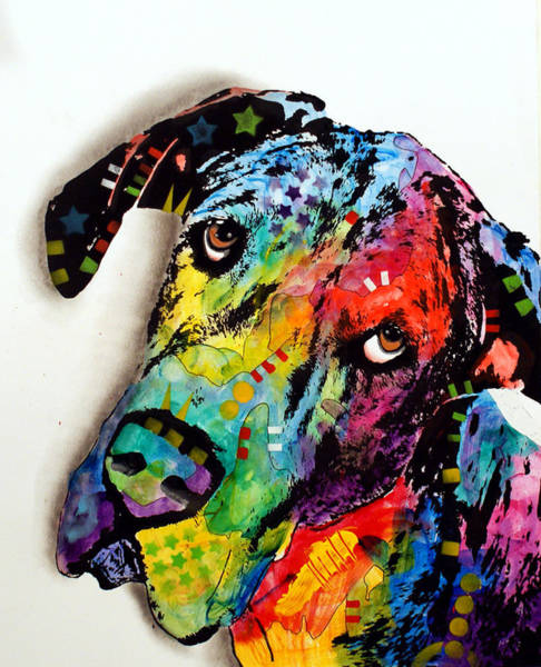 Wall Art - Painting - Tilted Dane by Dean Russo Art