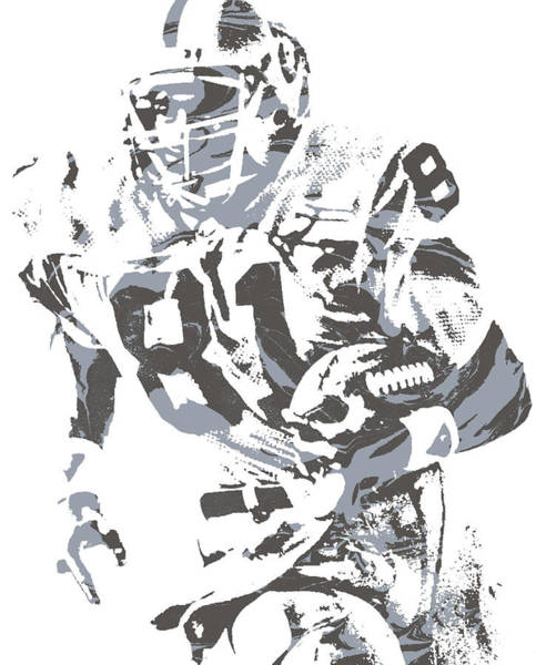 Wall Art - Mixed Media - Tim Brown Oakland Raiders Pixel Art 1 by Joe Hamilton