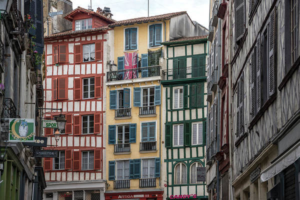Pyrenees Photograph - Timbered Buildings In Grand Bayonne by Izzet Keribar