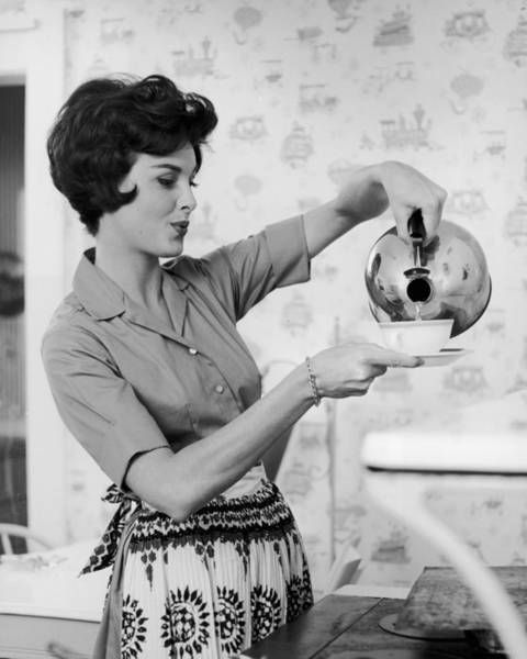 Apron Photograph - Time For Tea by Hill Photographers/archive Photos