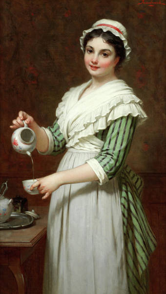Wall Art - Painting - Time For Tea by Pierre-Francois Bouchard