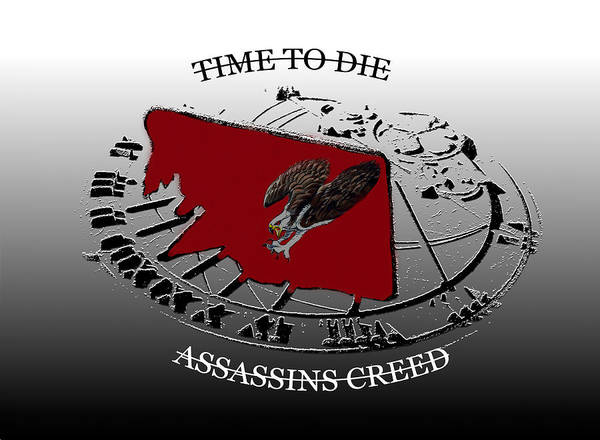 Wall Art - Mixed Media - Time To Die Assassin's Creed Eagle Work A by David Lee Thompson