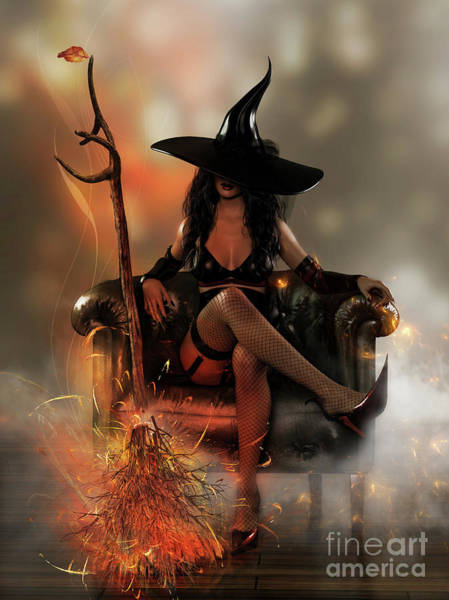 Witchcraft Digital Art - Time To Fly by Shanina Conway