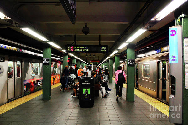Photograph - Times Square - 42nd Street Subway by Doc Braham