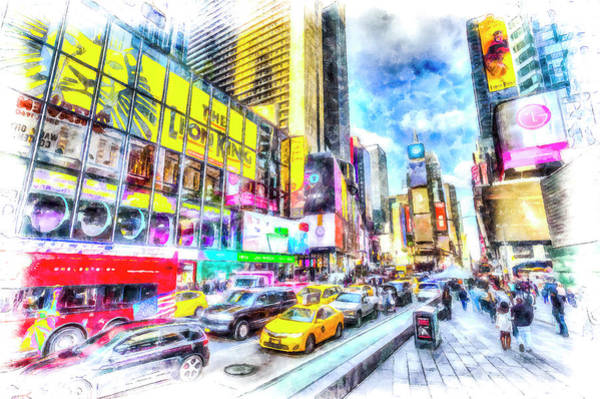 Wall Art - Photograph - Times Square Art by David Pyatt