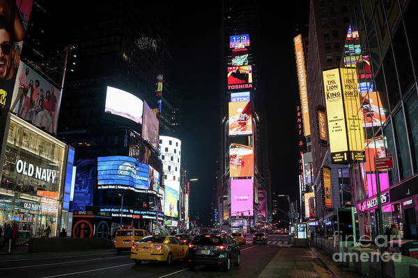 Photograph - Times Square At Night - New York City by Sanjeev Singhal