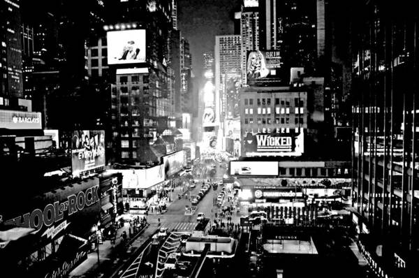 Wall Art - Photograph - Times Square Black And White by Diana Angstadt