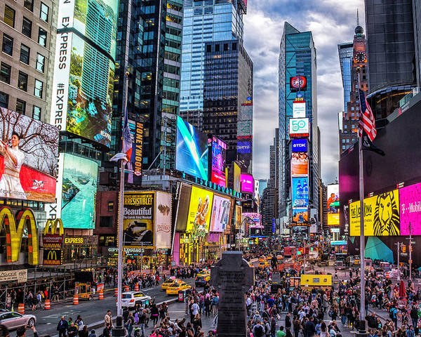 Photograph - Times Square From The Steps by Nick Zelinsky
