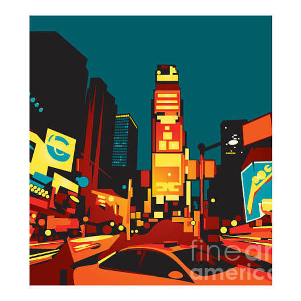 Time Square Wall Art - Digital Art - Times Square by Gbreezy