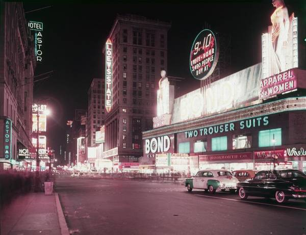 Clothing Store Photograph - Times Square by Hulton Archive