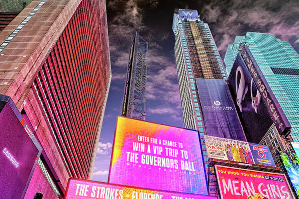 Photograph - Times Square Lights by Kay Brewer