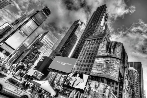 Wall Art - Photograph - Times Square Modern Architecture by David Pyatt