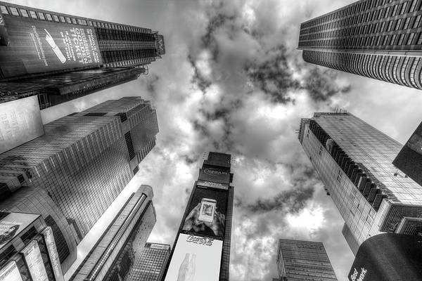 Wall Art - Photograph - Times Square New York Architecture by David Pyatt