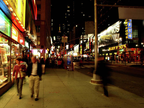 Art Print featuring the photograph Time Square, One by Edward Lee
