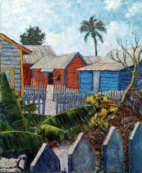 Painting - Tin Roofs And Clapboard by Ritchie Eyma