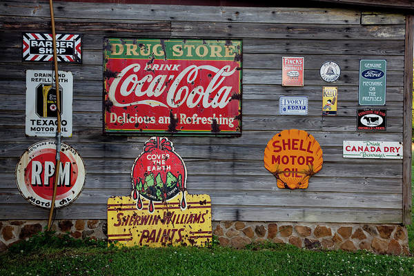 Merchandise Photograph - Tin Sign Advertisments by Buyenlarge