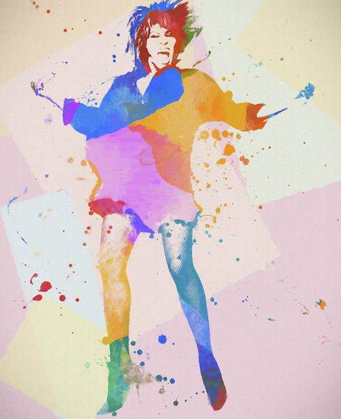 Wall Art - Painting - Tina Turner Color Splatter by Dan Sproul