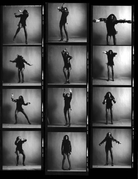 Photograph - Tina Turner Contact Sheet by Jack Robinson
