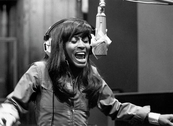 Photograph - Tina Turner Recording Session by Michael Ochs Archives