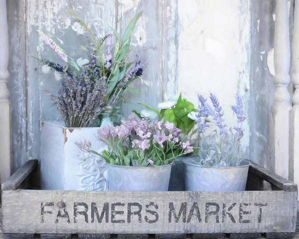 Wall Art - Mixed Media - Tins Of Lavender by Lori Deiter