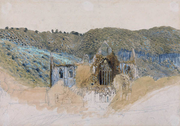 Wall Art - Painting - Tintern Abbey - Digital Remastered Edition by Samuel Palmer