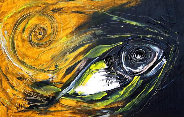 Painting - Tiny Fish, Big by J Vincent Scarpace