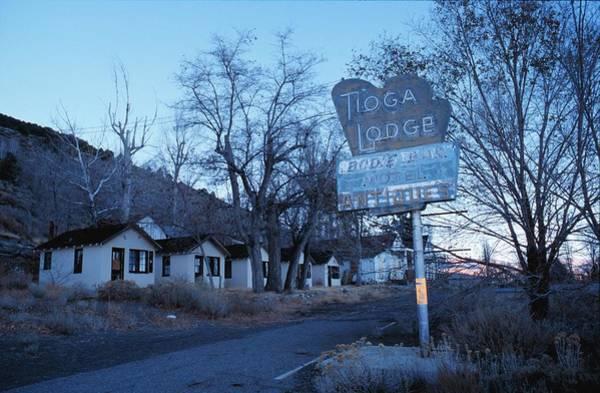 Tioga Photograph - Tioga Lodge Sign by Jim Steinfeldt