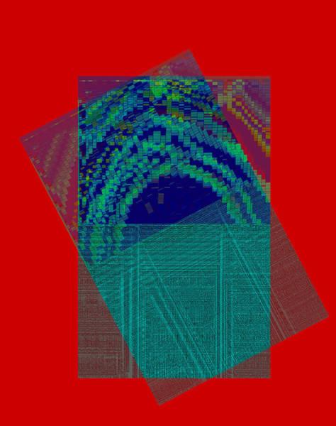 Digital Art - Tip Off Centre Abstract by Artist Dot