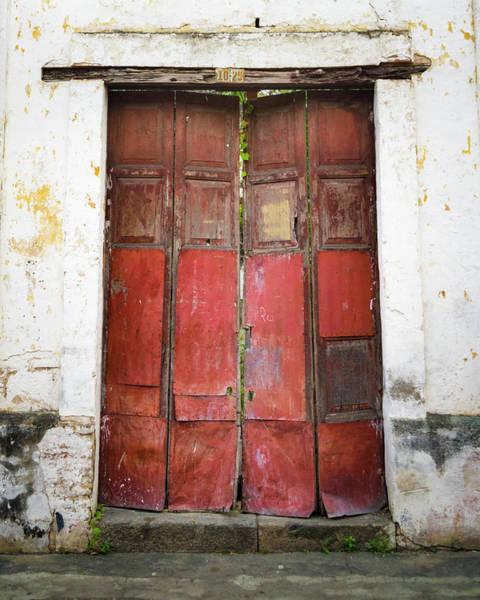 Photograph - Tipografia Azul Front Door Historical Honda Tolima Colombia by Adam Rainoff