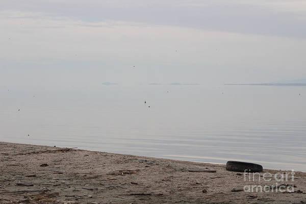 Photograph - Tire Abandoned  On North Shore Salton Sea by Colleen Cornelius
