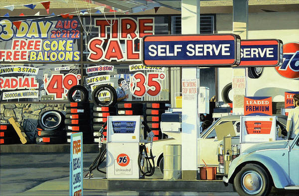 Wall Art - Painting - Tire Sale by Michael Ward