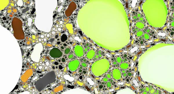 Digital Art - Titan Lake Green Abstract Art by Don Northup