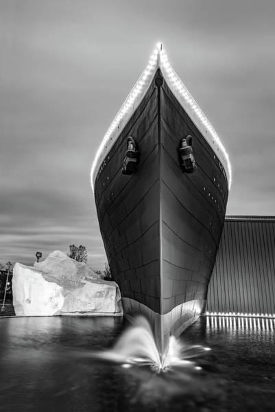 Photograph - Titanic Museum Branson Missouri - Black And White by Gregory Ballos