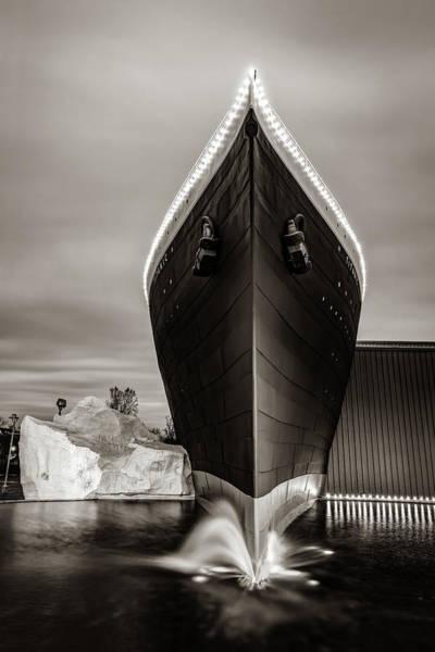 Photograph - Titanic Museum Branson Missouri - Sepia by Gregory Ballos