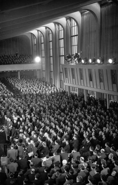 Auditorium Photograph - Titos Address by Bert Hardy