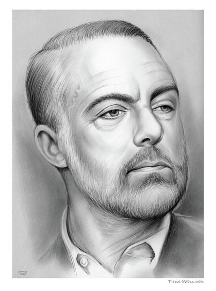 Television Drawing - Titus B. Welliver by Greg Joens