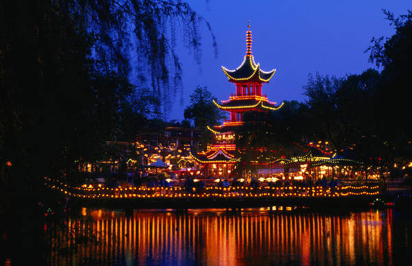 Belgian Culture Photograph - Tivoli Gardens Chinese Pagoda by Anders Blomqvist