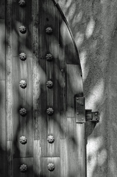 Photograph - Tlaquepaque Door 8455-101917-3cr-bw by Tam Ryan
