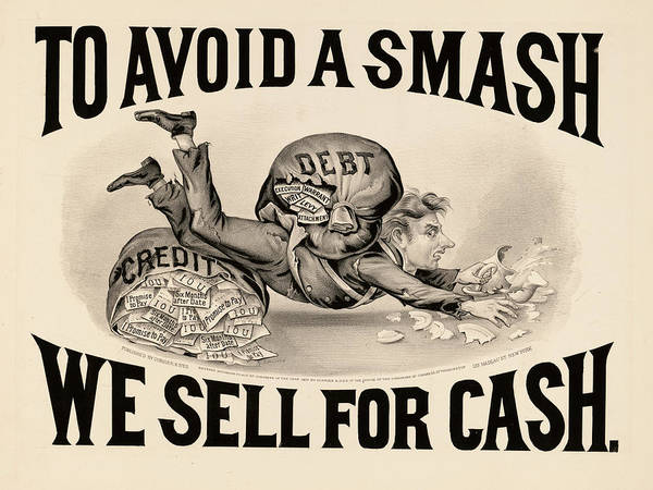 Wall Art - Painting - To Avoid A Smash We Sell For Cash, 1828 by American School