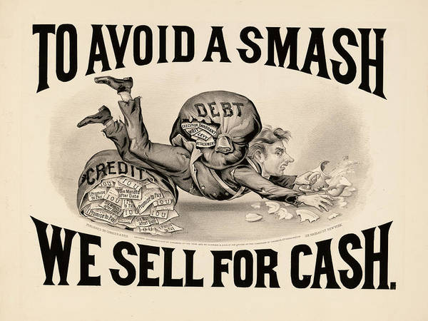 To Avoid A Smash We Sell For Cash, 1828 Art Print