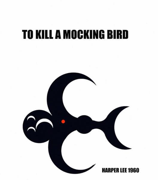 Wall Art - Digital Art - To Kill A Mocking Bird Minimal Book Cover Art by David Lee Thompson