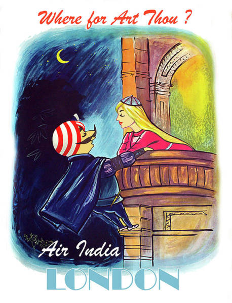 Wall Art - Digital Art - To London With Air India by Long Shot