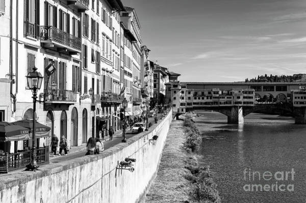 Photograph - To Ponte Vecchio In Florence by John Rizzuto