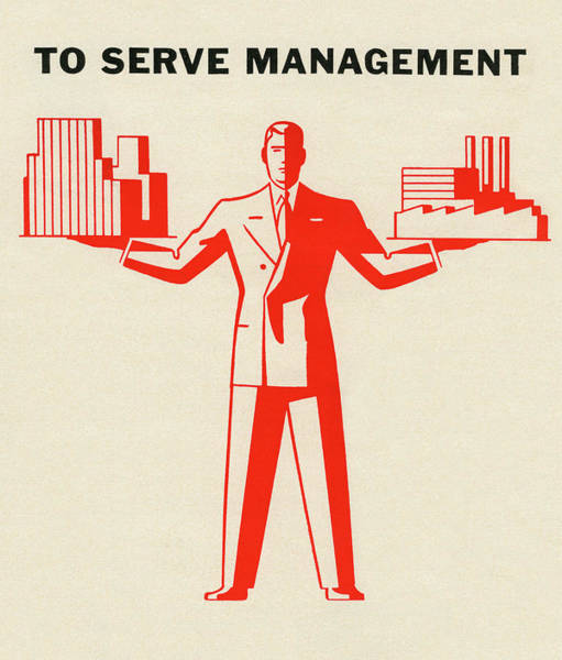 Exterior Digital Art - To Serve Management by Graphicaartis