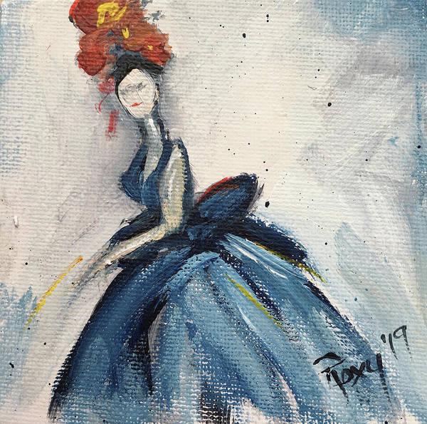 Wall Art - Painting - To The Ball by Roxy Rich