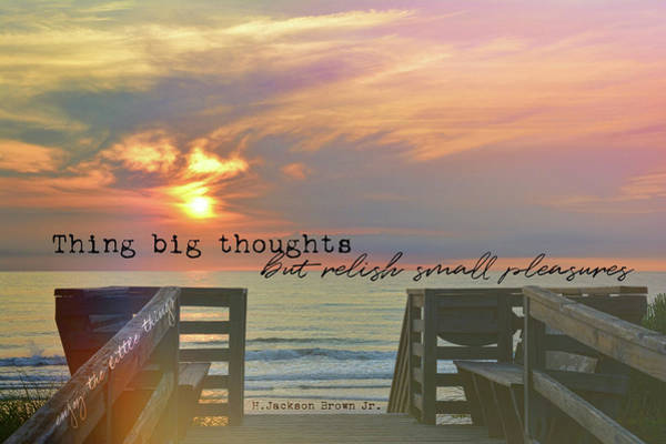 Photograph - To The Beach Quote by JAMART Photography