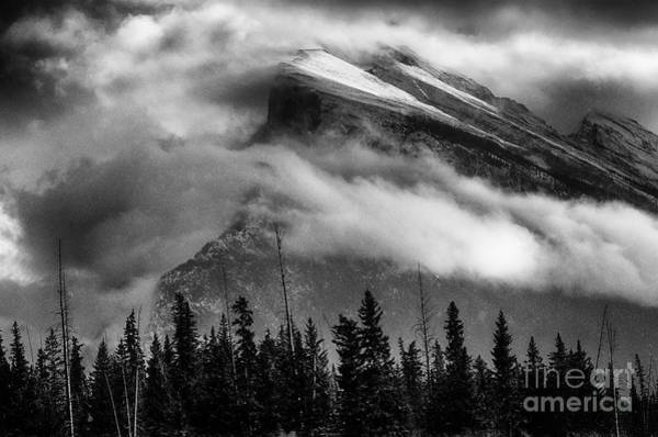Wall Art - Photograph - To The Wild Country Canadian Rockies Monochrome 12 by Bob Christopher